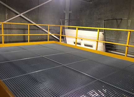 mezzanine grating fabrication