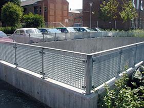 infill-panel-bar-grating; perforated infill panel; custom infill panel