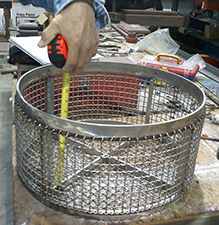 wire-cloth-fabrication-basket; marco houston; fabricating