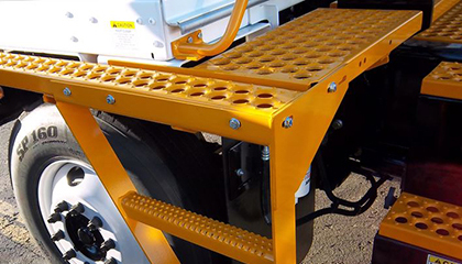 Perf-Trac safety grating on vehicle