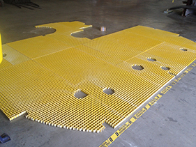 fiberglass grating fabrication