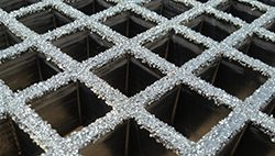 open molded fiberglass grating