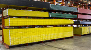 fiberglass grating inventory in warehouse