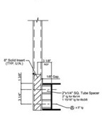 "to 6"" I-Beam with Spacer"
