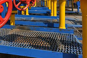 expanded metal grating; expanded grating; expanded walkway