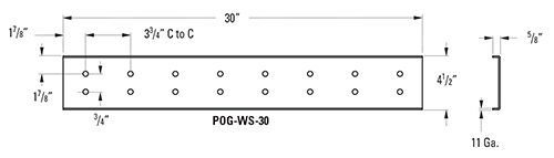 Perf-O Grip_Walkway Splice Plate Kit diagram