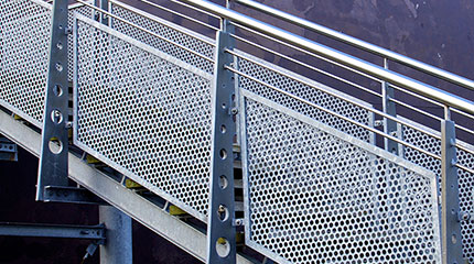 Perforated-Metal-infill-panel-stair-rail