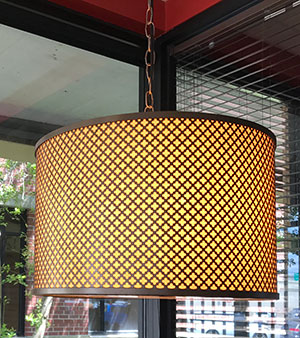 decorative perforated metal lampshade