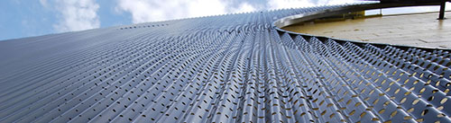 custom perforated wall cladding