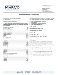 Wire-Mesh-Weight-Conversions