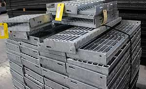 In-stock metal stair treads
