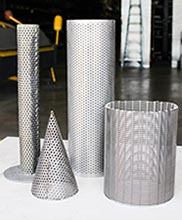 custom perforated tube fabrication