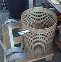 perforated strainer basket fabrication
