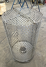 custom perforated basket fabrication