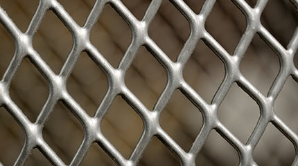 A close-up shot of metal lattice as a background