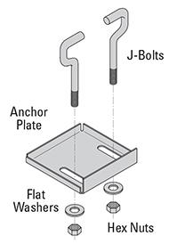 Grip Strut safety grating Anchor Plate