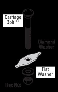 grip strut safety grating diamond washer assembly