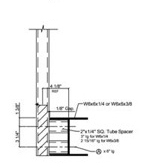 "to 6"" WF-Beam with Spacer"
