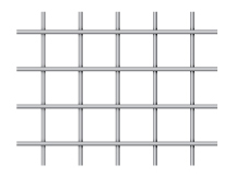 welded wire mesh in a balanced untrimmed option