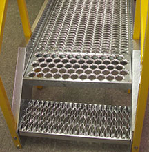 safety grating crossover fabrication