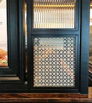 Perforated-metal-ornamental-decorative-in-restaurant