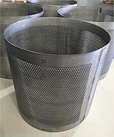 fabricated perforated metal cylinder