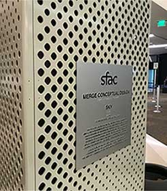 perforated metal airport screen
