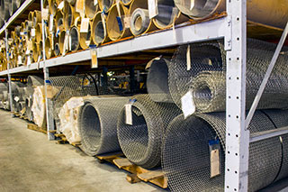 screening wire cloth material in the warehouse