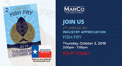 Join Marco at the BIC Alliance Fish Fry